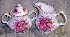 Bone China Cream and Sugar Set