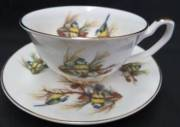 Blue Tit Cup and Saucer