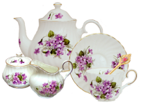 Violets Tea Set Pattern