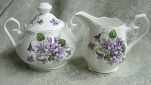 Wild Violets Cream and Sugar