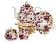 Pansy Chintz Tea for One