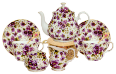 Pansy Chintz Tea for Two