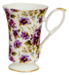 Two Pansy Chintz Mugs