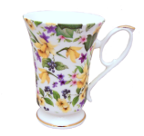 Two Daffodil Chintz Mugs