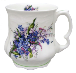 Two Forget Me Not Tankards