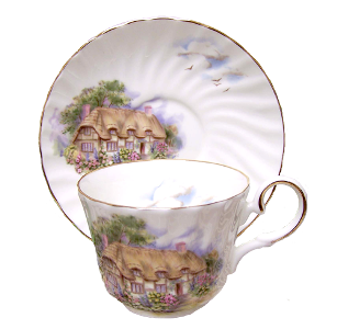 Two English Cottage Cup Sets