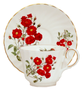 Two Romantic Rose Cup Sets