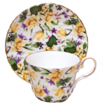 Two Daffodil Chintz Cup Set