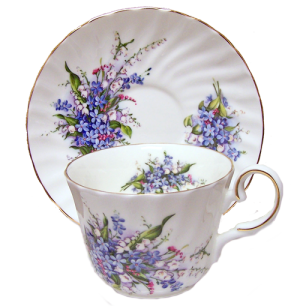 Two Forget Me Not Cup Sets