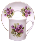 Two Pansy Demitasse Cup Sets