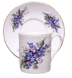 Two Forget Me Not Demitasse Sets
