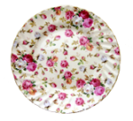 Two Antique Rose Dessert Plates