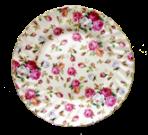 Two Antique Rose Dessert Plates