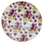 Two Pansy Chintz Dessert Plates