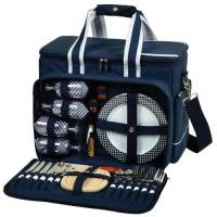 Navy Upscale Picnic Cooler for Four