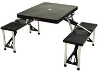 Black Folding Picnic Table with Seats