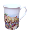 Four English Cottage Mugs