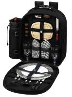 Black Picnic Backpack for Two