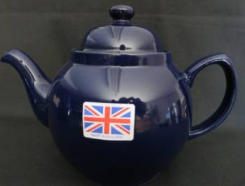 Two Cup Cobalt Blue Teapot