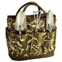Olive Floral Garden Tote and Tool Set