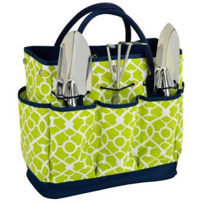 Trellis Green Garden Tote and Tool Set