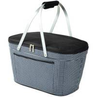 Houndstooth Collapsible Cooler Basket