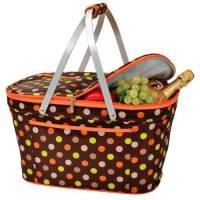 Julia Dot Collapsible Cooler Basket