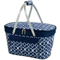 Trellis Blue Collapsible Cooler Basket