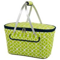 Trellis Green Collapsible Cooler Basket