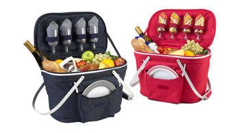 Collapsible Picnic Basket for Four