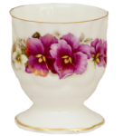 Four Pansy Egg Cups
