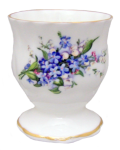 Four Forget Me Not Egg Cups