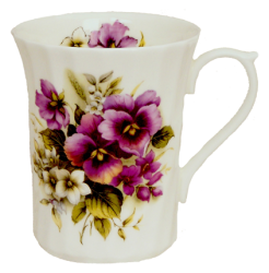 Three Pansy Mugs