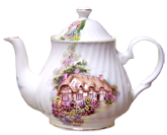 English Cottage Four Cup Teapot