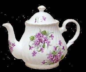 Violets Six Cup Teapot