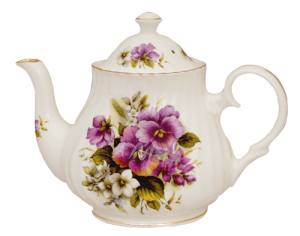 Pansy Four Cup Teapot