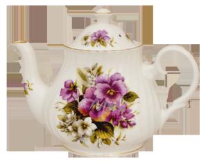 Pansy Six Cup Teapot