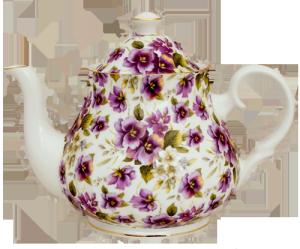 Pansy Chintz Six Cup Teapot