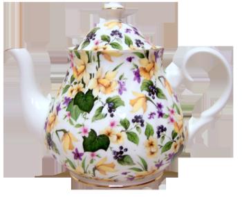 Daffodil Chintz Six Cup Teapot