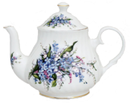 Forget Me Not Six Cup Teapot