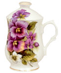 Two Pansy Covered Mugs
