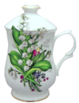 Two Lily Covered Mugs