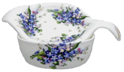 Two Forget Me Not Tea Strainers