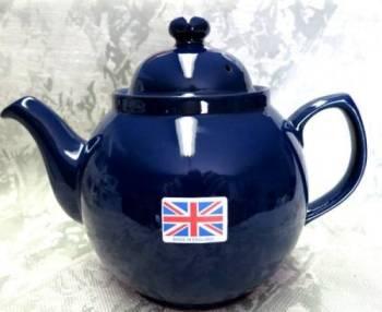 Six Cup Cobalt Blue Teapot