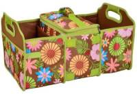 Floral Trunk Organizer and Cooler Set