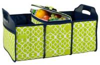 Trellis Green Trunk Organizer and Cooler Set