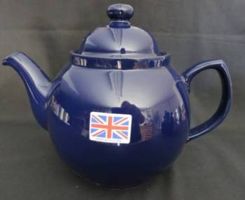 Eight Cup Cobalt Blue Teapot