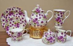 Pansy Chintz Complete Tea Set