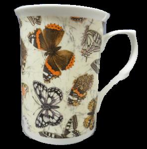 Three Butterfly Chintz Mugs