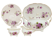Elizabeth Grey Violets Tea Set